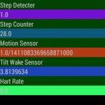 GearLiveに搭載されたセンサーを使ってみた